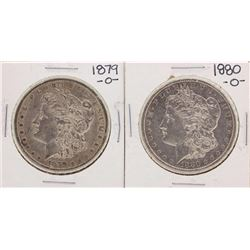 Lot of 1879-O & 1880-O $1 Morgan Silver Dollar Coins