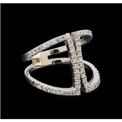 0.62 ctw Diamond Ring - 14KT White Gold