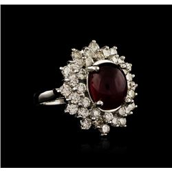 14KT White Gold 6.05 ctw Ruby and Diamond Ring