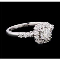 0.98 ctw Diamond Ring - 14KT White Gold