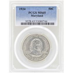 1934 Maryland Tercentenary Commemorative Half Dollar Coin PCGS MS65