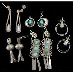 5 Pair of Navajo Earrings