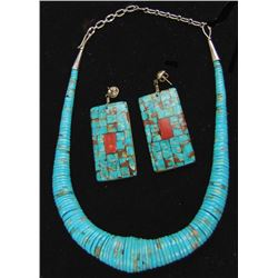 Pueblo Necklace and Earrings