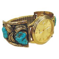 Navajo Gold Watchband - Dave Scott
