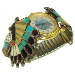 Zuni Inlay Watchband - R.Quam