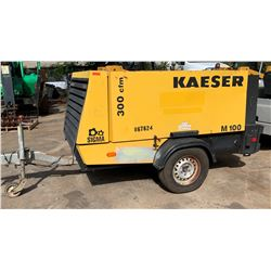 2011 Kaeser Diesel Air Compressor, 375CFM 150 PSI, 1931 Hours (Starts, Runs, Blows Air. See Video)