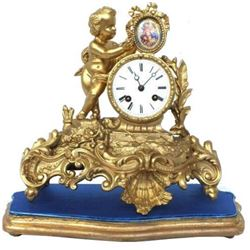 Circa 1870 French Rococo Mantel Clock