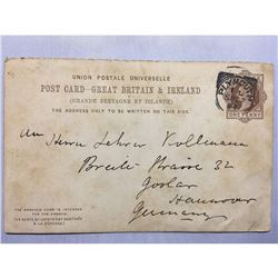 1800s London Original Postmarked Handwritten Post Card