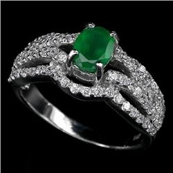 Elegant Green Aventurine Sterling Silver Ring