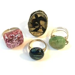 Group of Handmade Artisan Rings