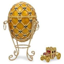 1897 Coronation Faberge-Inspired Egg 7""
