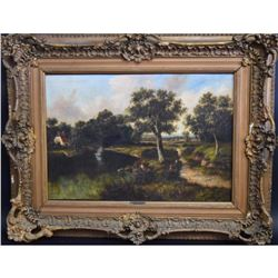 H.C. Buttler; 19thC. English Oil Painting Signed