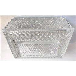 Vintage Crystal Trinket Dresser Box