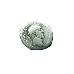 Ancient Roman Silver Coin Denarius Antoninus Pius 138-161 Ad.