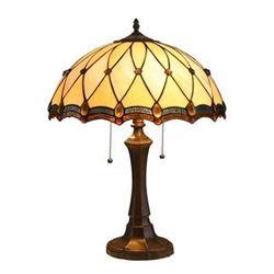 """JOSEPHINE"" Tiffany-style 2 Light Victorian Table Lamp 16"" Shade"