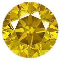5ct Round Brilliant Cut Canary BIANCO Diamond