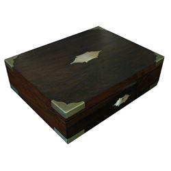 19thc Rosewood & Brass Lap Desk