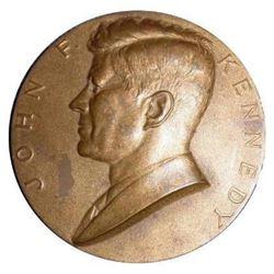 1961 Inaugural Medallion, President John F Kennedy Bronze Coin