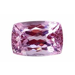Huge 43ct Certified Natural Pink Cushion Cut Brazilian Kunzite Gemstone