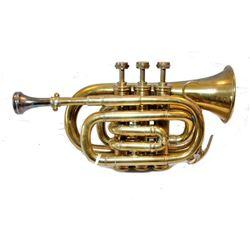 WWII era Military Brass Pocket Trumpet