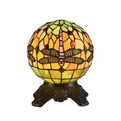 """DEMOISELLE"" Tiffany-style 1 Light Dragonfly Table Lamp 8"" Shade"