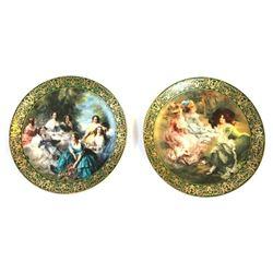 Limoges Porcelain Portrait Plates