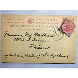 1800s London Original Postmarked Handwritten Postcard and Envelope