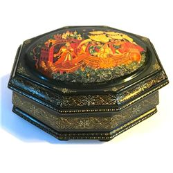 Russian Lacquer Jewel Box, Pushkin's Fairy Tales