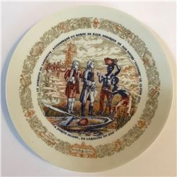 Vintage Limoges French Collectible Plate, Lafayette Legacy, 18thc Carolina