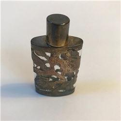 1940's Sterling Overlay Perfume Bottle