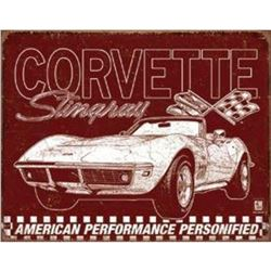 "Corvette - 69 StingRay 16""Wx12.5""H"