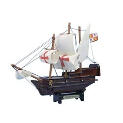 Wooden Santa Maria Tall Model Ship 7""