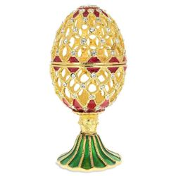 Oriental Style Royal Inspired Russian Egg 4.8 Inches