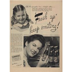 1945 7up Cola Mother's Little Helper Magazine Ad