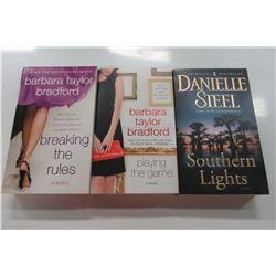 THREE NEW BARBARA TAYLOR BRADFORD & DANIELLE STEELE POCKET BOOKS