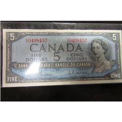 1954 BANK OF CANADA $5 BILL