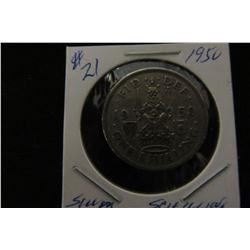 1950 GREAT BRITIAN KING GEORGE VI SILVER SCHILLING