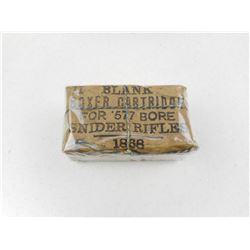 BLANK BOXER CARTRIDGE FOR .577 BORE SNIDER RIFLES DATED 1868