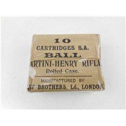 MARTINI-HENRY RIFLE ROLLED CASE AMMO