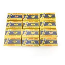 CIL SUPER CLEAN 22 LONG RIFLE AMMO IN VINTAGE BOXES