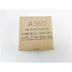 A360 9MM BALL CDN MK1 LOT 179-DAQ-65 AMMO