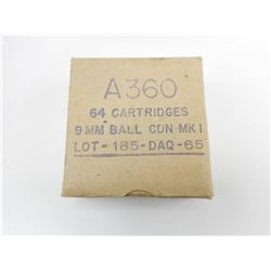 A360 9MM BALL CDN MK1 LOT 185-DAQ-65 AMMO