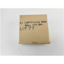 9MM BALL CDN MK1 LOT 77 AMMO