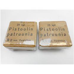 9MM PISTOOLIN PATRUUNIA AMMO