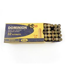 32 AUTOMATIC AMMO ASSORTED