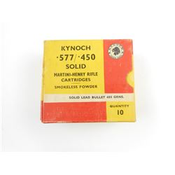 KYNOCH .577-.450 MARTINI-HENRY AMMO