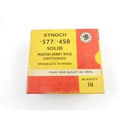 KYNOCH .577/.450 MARTINI-HENRY AMMO