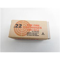 .22 LONG RIFLE RIM FIRE AMMO