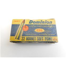 22 HORNET SOFT POINT AMMO