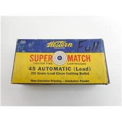 WESTERN SUPER MATCH 45 AUTOMATIC AMMO
